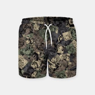 Thumbnail image of Ahegao camouflage Swim Shorts, Live Heroes