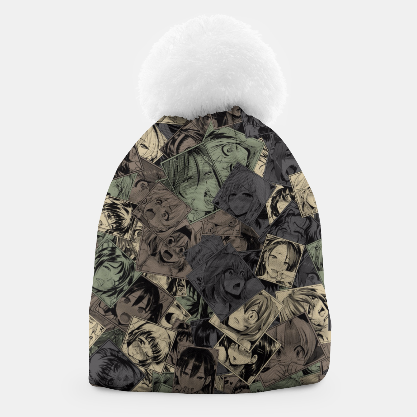 Image of Ahegao camouflage Beanie - Live Heroes