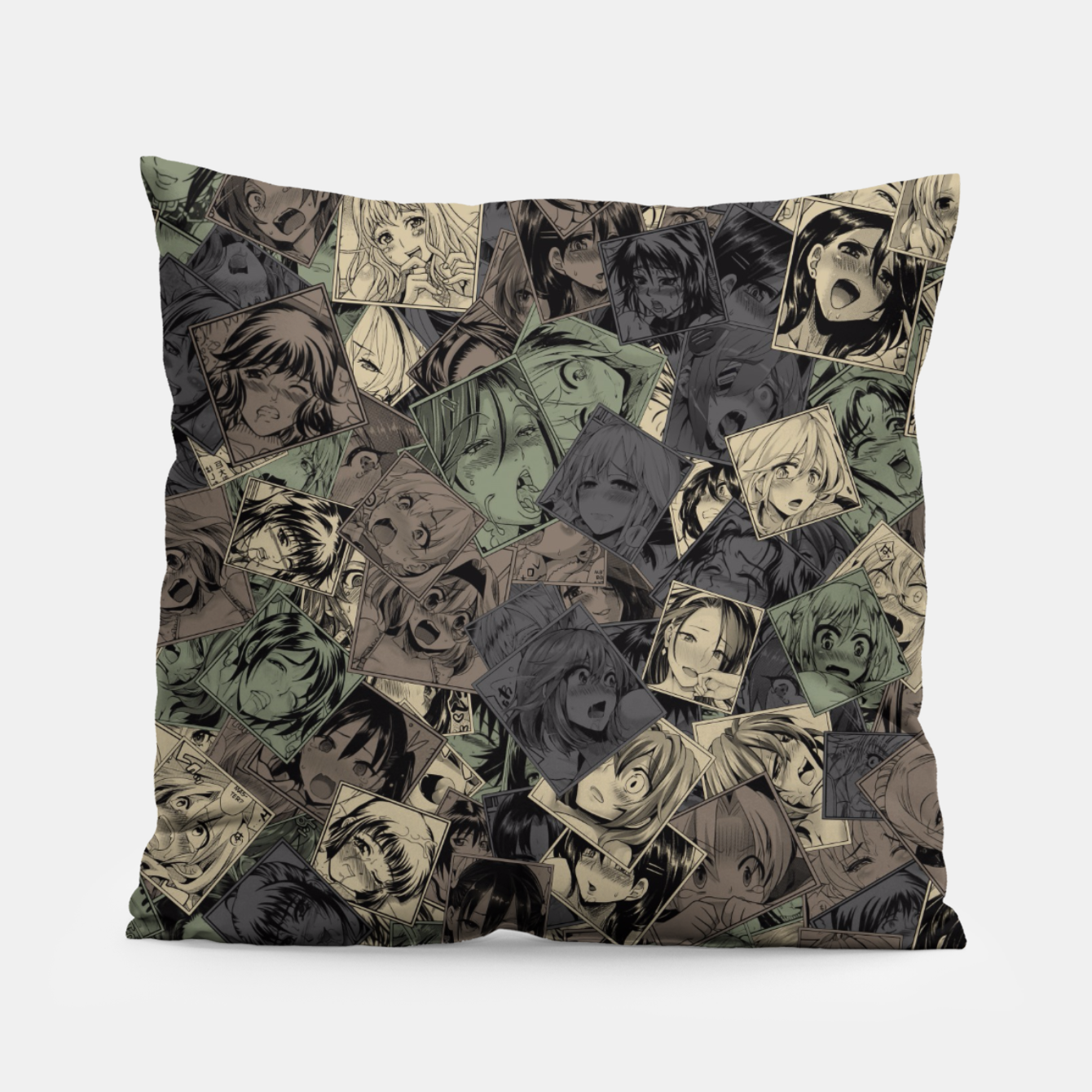 Image of Ahegao camouflage Pillow - Live Heroes