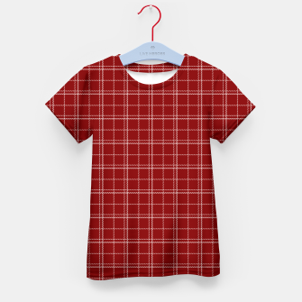 Imagen en miniatura de Dark Christmas Candy Apple Red Plaid Check with White Kid's t-shirt, Live Heroes