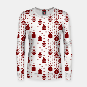 Dark Christmas Christmas Candy Apple Red Ball Ornaments Women sweater imagen en miniatura