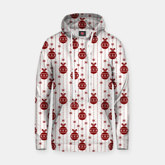 Dark Christmas Christmas Candy Apple Red Ball Ornaments Hoodie imagen en miniatura