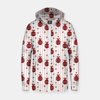 Dark Christmas Christmas Candy Apple Red Ball Ornaments Zip up hoodie imagen en miniatura