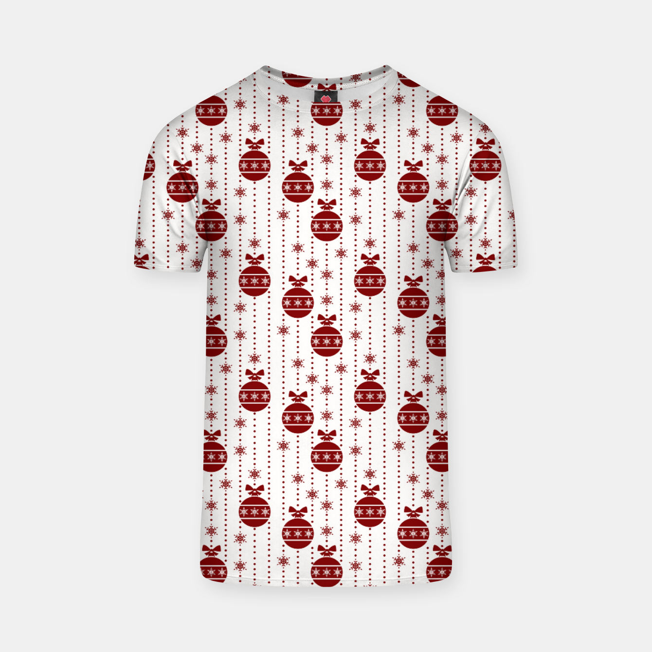 Imagen de Dark Christmas Christmas Candy Apple Red Ball Ornaments T-shirt - Live Heroes