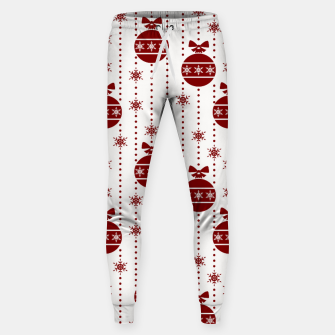 Large Dark Christmas Christmas Candy Apple Red Ball Ornaments Sweatpants imagen en miniatura
