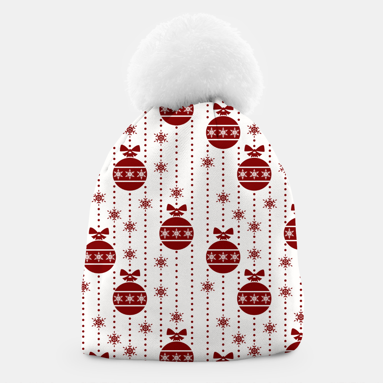 Imagen de Large Dark Christmas Christmas Candy Apple Red Ball Ornaments Beanie - Live Heroes