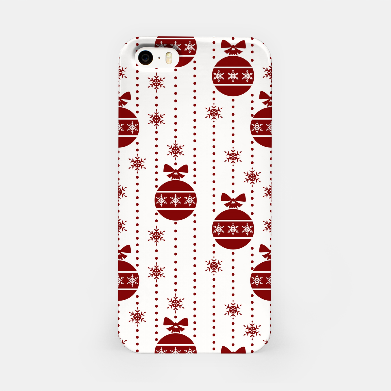 Imagen de Large Dark Christmas Christmas Candy Apple Red Ball Ornaments iPhone Case - Live Heroes