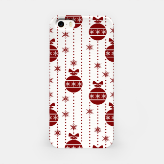 Imagen en miniatura de Large Dark Christmas Christmas Candy Apple Red Ball Ornaments iPhone Case, Live Heroes