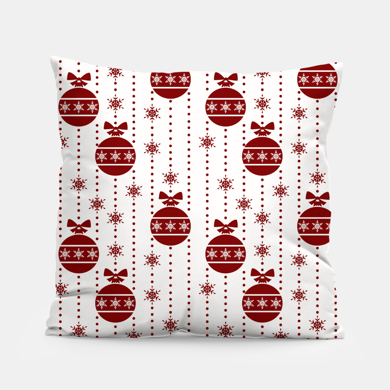 Imagen de Large Dark Christmas Christmas Candy Apple Red Ball Ornaments Pillow - Live Heroes