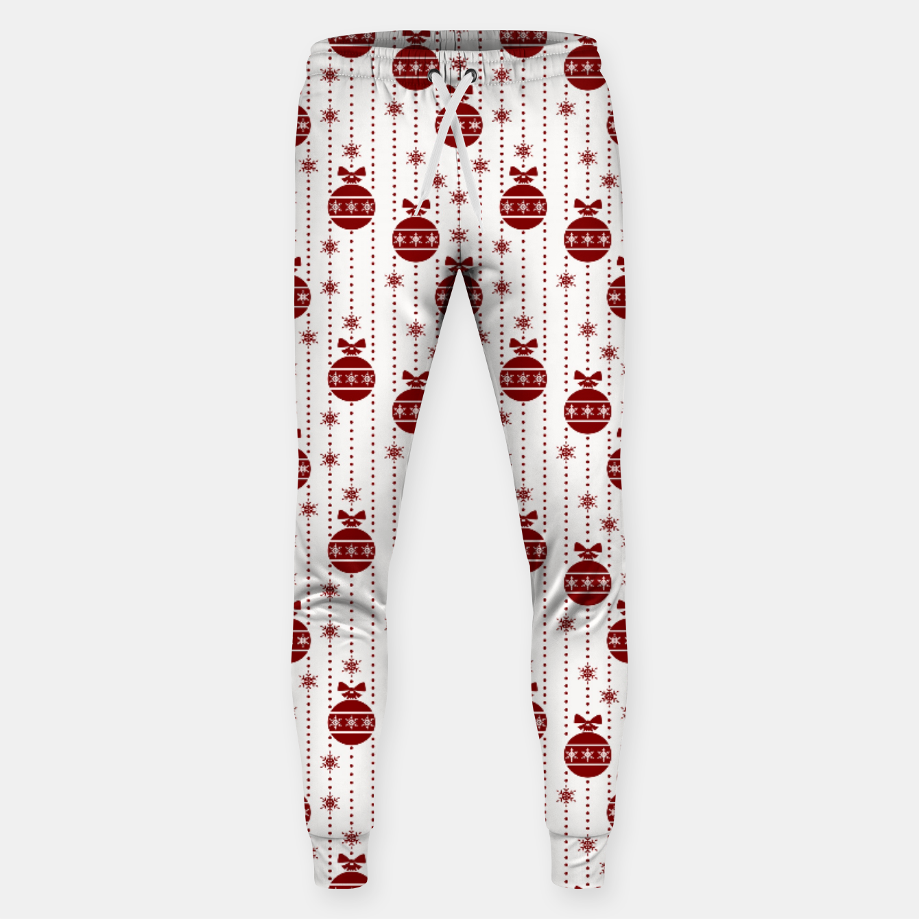 Imagen de Dark Christmas Christmas Candy Apple Red Ball Ornaments Sweatpants - Live Heroes