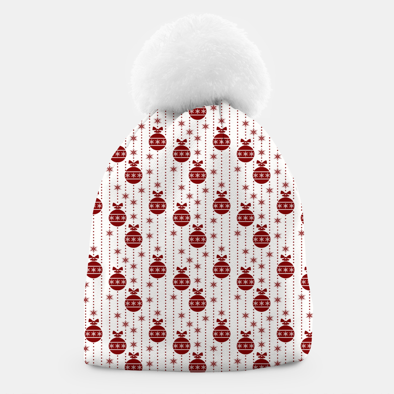 Imagen de Dark Christmas Christmas Candy Apple Red Ball Ornaments Beanie - Live Heroes