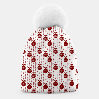 Dark Christmas Christmas Candy Apple Red Ball Ornaments Beanie imagen en miniatura