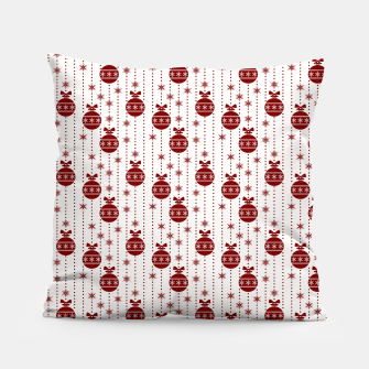 Dark Christmas Christmas Candy Apple Red Ball Ornaments Pillow imagen en miniatura