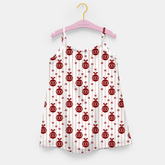 Dark Christmas Christmas Candy Apple Red Ball Ornaments Girl's dress imagen en miniatura