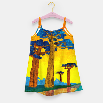 Miniature de image de Big baobabs Girl's dress, Live Heroes