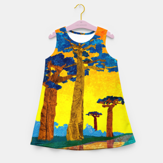 Miniature de image de Big baobabs Girl's summer dress, Live Heroes