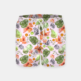 Thumbnail image of Retro Poppy PInk Swim Shorts, Live Heroes