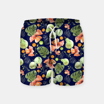 Miniatur Retro Poppy Blue Swim Shorts, Live Heroes