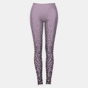 Miniatur Animal print purple gradient MEA  Legginsy, Live Heroes