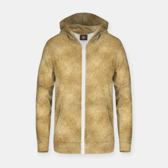 Thumbnail image of Faux Gold Glitter Zip up hoodie, Live Heroes