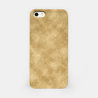 Miniatur Faux Gold Glitter iPhone Case, Live Heroes