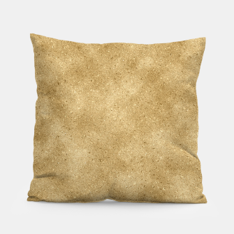 Thumbnail image of Faux Gold Glitter Pillow, Live Heroes