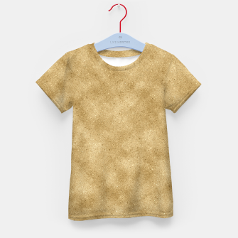 Thumbnail image of Faux Gold Glitter Kid's t-shirt, Live Heroes