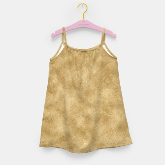 Miniatur Faux Gold Glitter Girl's dress, Live Heroes