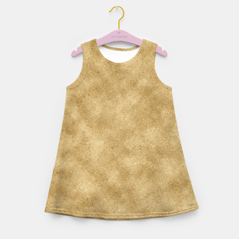 Miniatur Faux Gold Glitter Girl's summer dress, Live Heroes