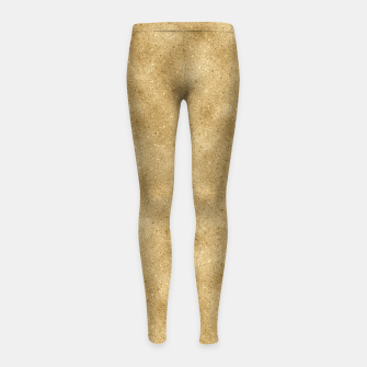 Miniature de image de Faux Gold Glitter Girl's leggings, Live Heroes
