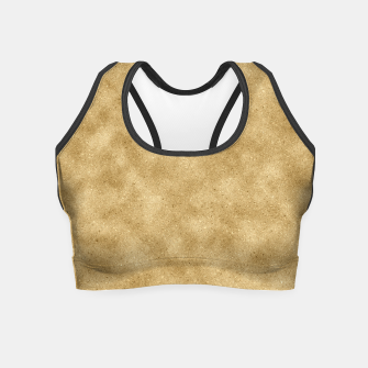 Thumbnail image of Faux Gold Glitter Crop Top, Live Heroes