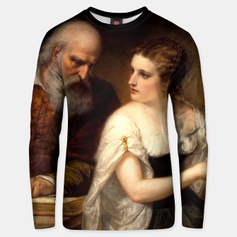 Thumbnail image of Philosophy and Christian Art by Daniel Huntington Unisex sweater, Live Heroes
