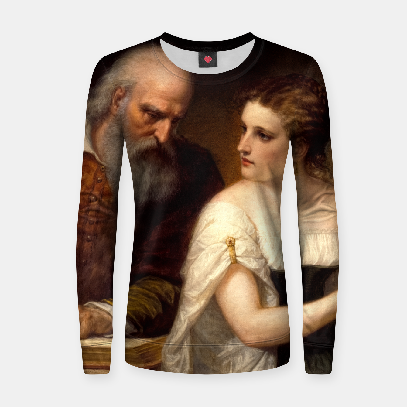 Image of Philosophy and Christian Art by Daniel Huntington Women sweater - Live Heroes