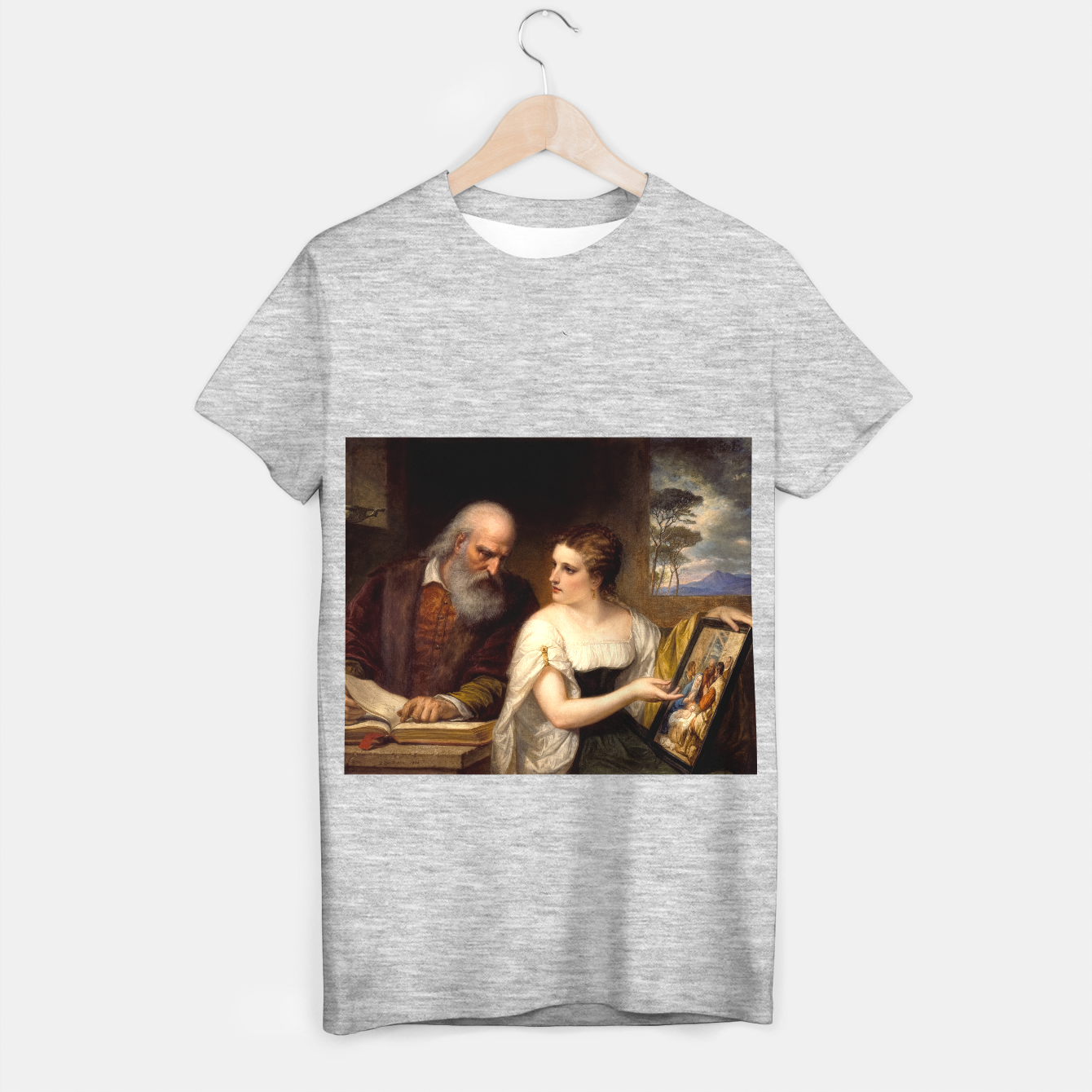Image of Philosophy and Christian Art by Daniel Huntington T-shirt regular - Live Heroes