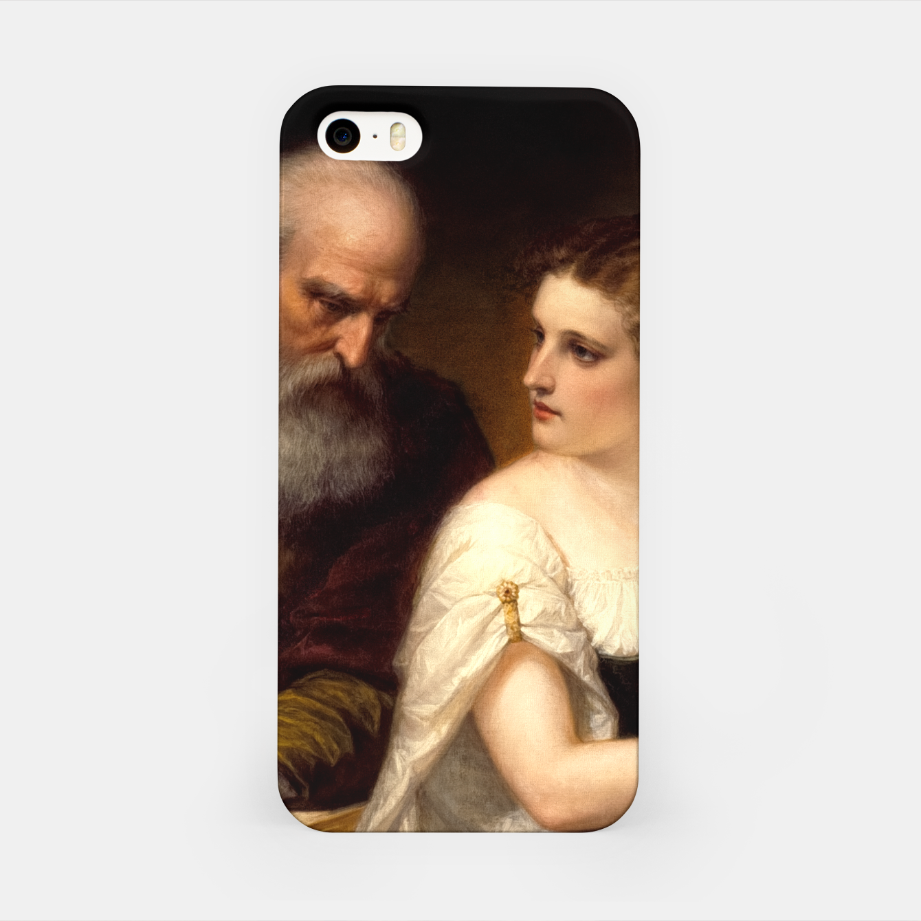 Image of Philosophy and Christian Art by Daniel Huntington iPhone Case - Live Heroes