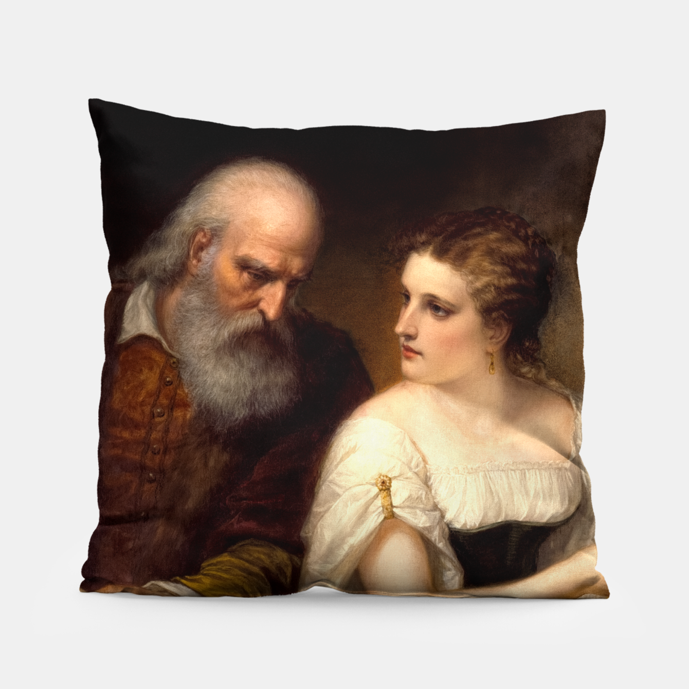 Image of Philosophy and Christian Art by Daniel Huntington Pillow - Live Heroes