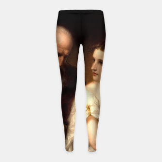 Philosophy and Christian Art by Daniel Huntington Girl's leggings obraz miniatury