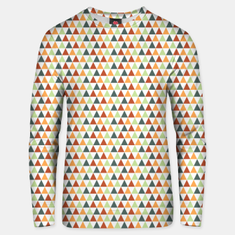 Miniatur Autumnal Triangles Geometric Pattern Unisex sweater, Live Heroes