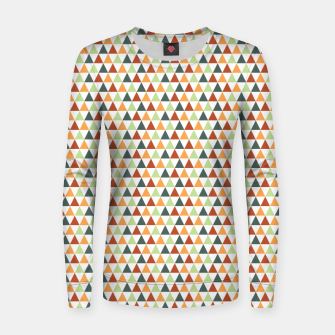 Miniatur Autumnal Triangles Geometric Pattern Women sweater, Live Heroes