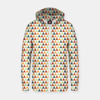 Miniatur Autumnal Triangles Geometric Pattern Zip up hoodie, Live Heroes