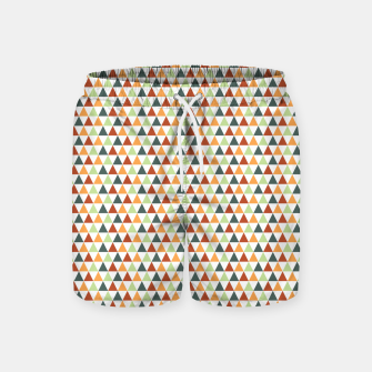 Miniatur Autumnal Triangles Geometric Pattern Swim Shorts, Live Heroes