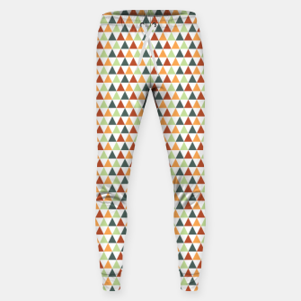 Miniatur Autumnal Triangles Geometric Pattern Sweatpants, Live Heroes