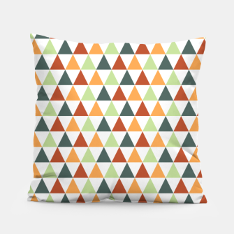 Miniatur Autumnal Triangles Geometric Pattern Pillow, Live Heroes