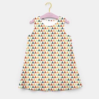 Miniature de image de Autumnal Triangles Geometric Pattern Girl's summer dress, Live Heroes