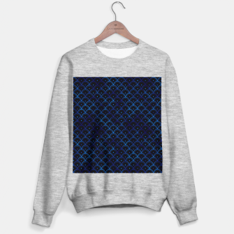 Thumbnail image of Dotted Scales in Black and Classic Blue Vintage Faux Foil Art Deco Vintage Foil Pattern Sweater regular, Live Heroes