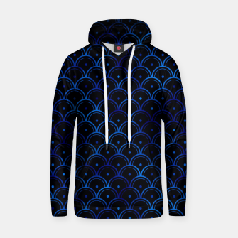 Thumbnail image of Dotted Scales in Black and Classic Blue Vintage Faux Foil Art Deco Vintage Foil Pattern Hoodie, Live Heroes
