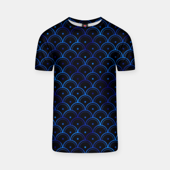 Thumbnail image of Dotted Scales in Black and Classic Blue Vintage Faux Foil Art Deco Vintage Foil Pattern T-shirt, Live Heroes