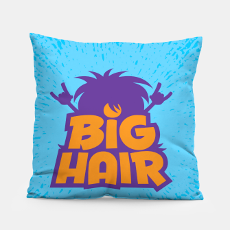 Miniatur Big Hair Band Logo Pillow, Live Heroes