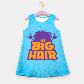 Miniatur Big Hair Band Logo Girl's summer dress, Live Heroes