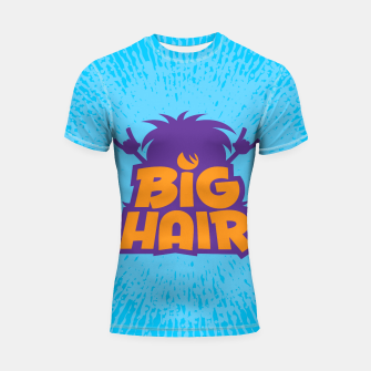 Miniatur Big Hair Band Logo Shortsleeve rashguard, Live Heroes